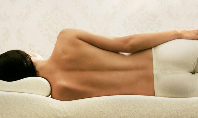 colonna vertebrale a riposo senza compressioni