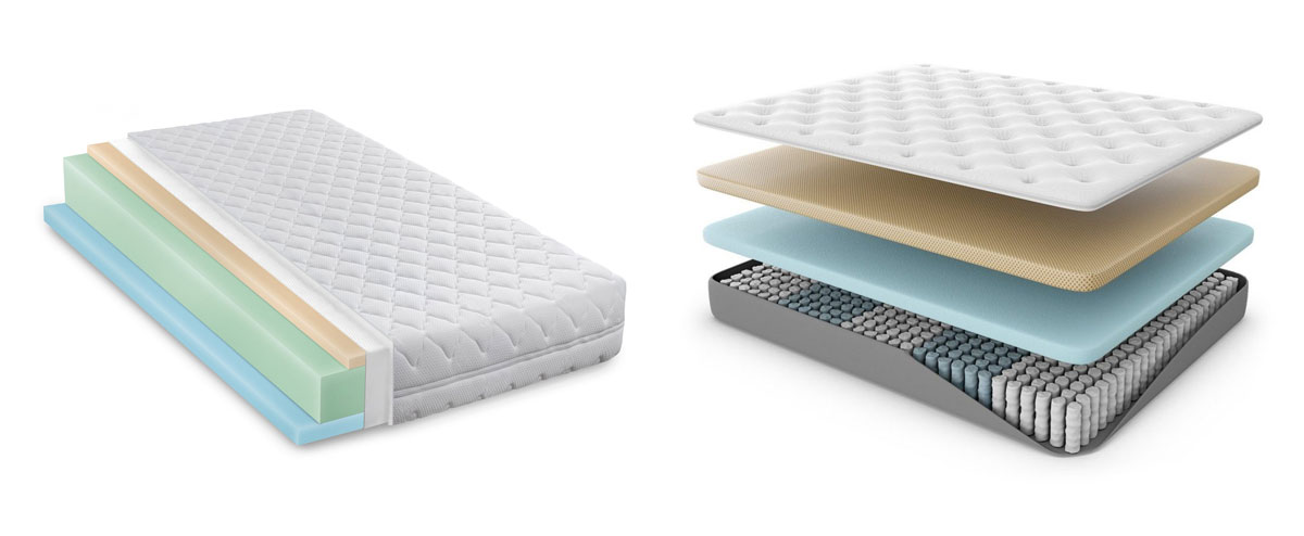 Materassi In Lattice E Memory Differenze.Materasso Ibrido O Memory Foam Quale Scegliere
