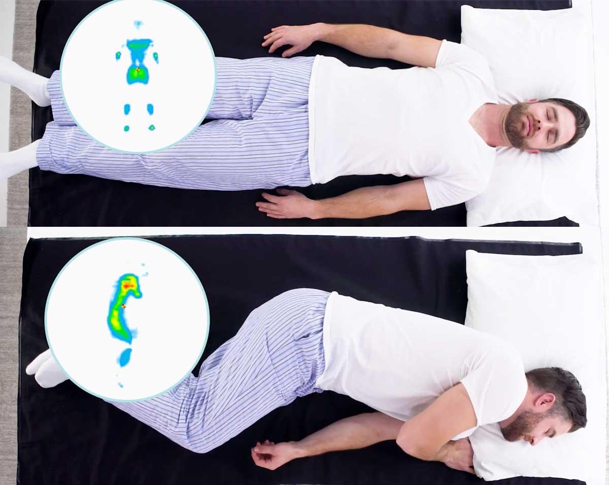 Test punti di pressione materasso